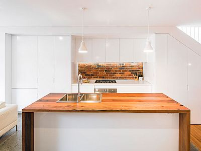 Architect Fin Renovation of Sydney Terrace house in Birchgrove, contemporary and open plan