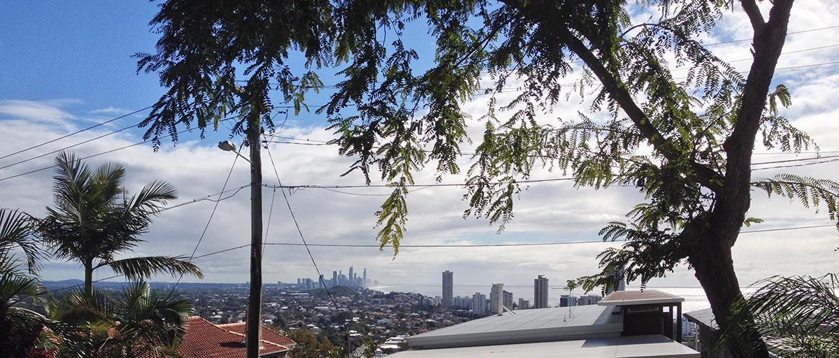 Looking over Burleigh Heads to The Gold Coast