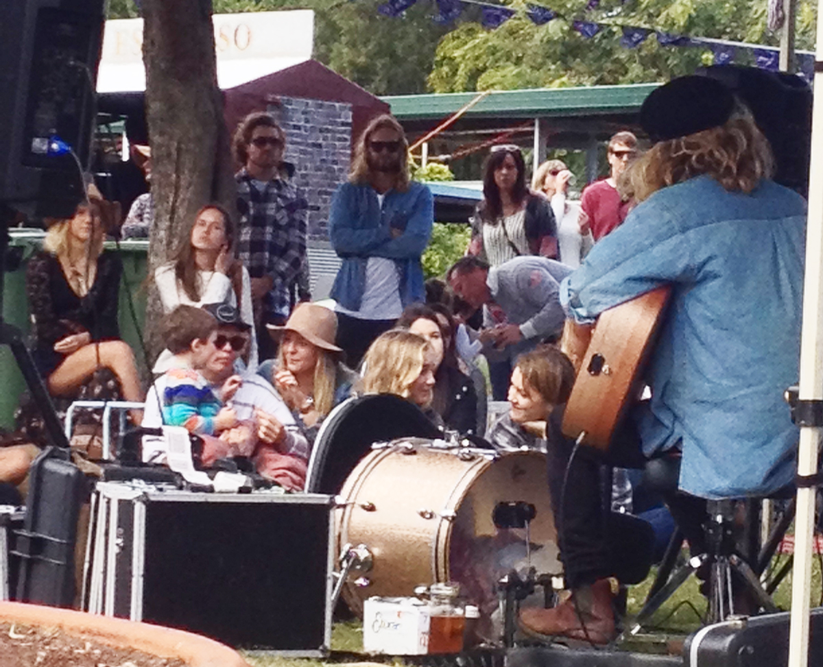 ZIggy Alberts at the Burleigh Village Markets